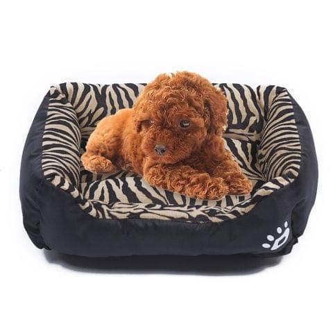 Animal Grain Four Seasons Genuine Warm Pet Dog Kennel Mat, Size: M, 54×42×12cm(Black)