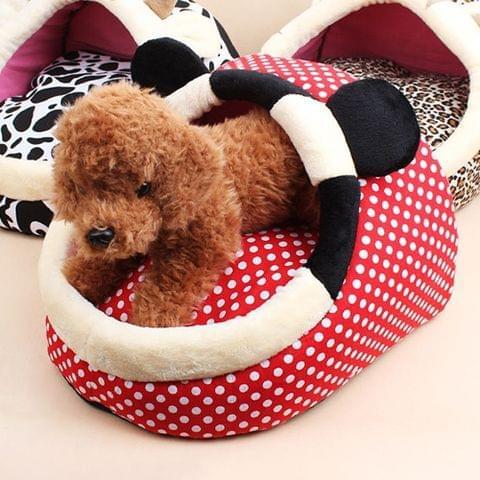 Pet Supplies Detachable Pets Nest Cute Cartoon Shape Mongolia Bag Cat Dog House, Large, Size:45*42cm