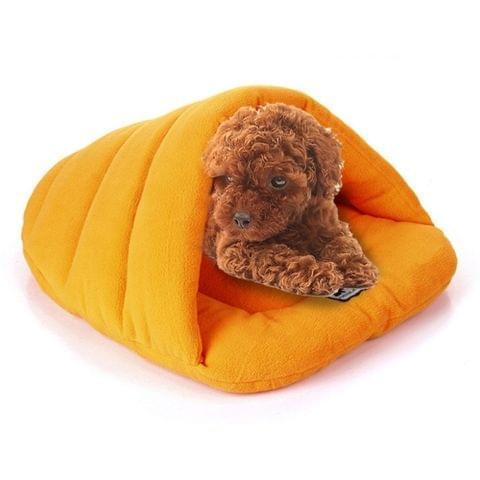 Slipper Shape Polar Fleece Warm Thicken Pet Dogs Cats House Size: M, 48×58×26cm(Orange)