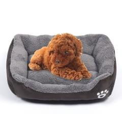Candy Color Four Seasons Genuine Warm Pet Dog Kennel Mat Teddy Dog Mat, Size: M, 54×42×12cm (Coffee)