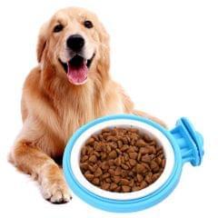 Colorful Fixed Style Suspensibility Detachable Dogs Pet Bowls, Bowl Size: L, 12*5.0*4.0 cm (Blue)