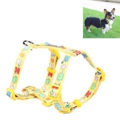 Tuffhound 1634 Adjustable Dog Harness Lead Leash Collar Belt,Size:M, 2x(35-58)x(42-70)cm (Yellow)