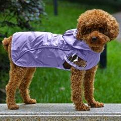 Outdoor Waterproof Teddy Poodle Small dogs Double Poncho(Purple S)