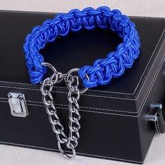 Large Dog German Shepherd Walk the Dog P Chain Necklet Collar for Medium and Large Dogs, Color:Blue(M)