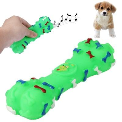 Bone Shape Plastic Pet Toys with Whistle for Dogs / Cats, Random Color Delivery                                               ()
