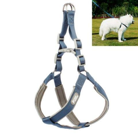 Tuffhound 1606 Adjustable Dog Harness Lead Leash Collar Belt,Size:L, 2x(54-69)+(61-77)cm(Blue)