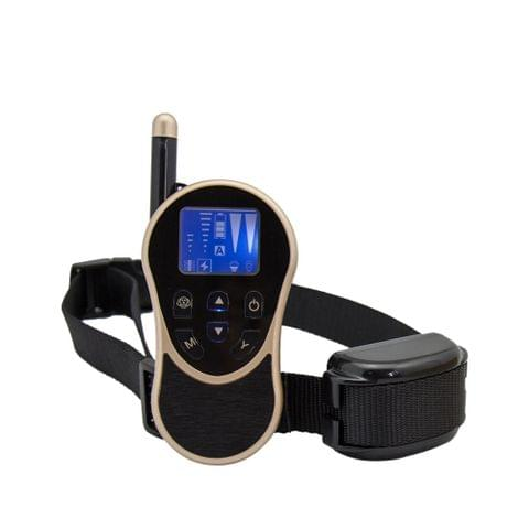 WELLTURN 774 Adjustable Rechargeable Waterproof Pet Dog Training Anti Barking Collar Electric Shock Collar (Black)