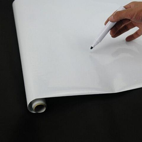 PVC Wall Whiteboard with Free Marker Pen Size: 45x200cm