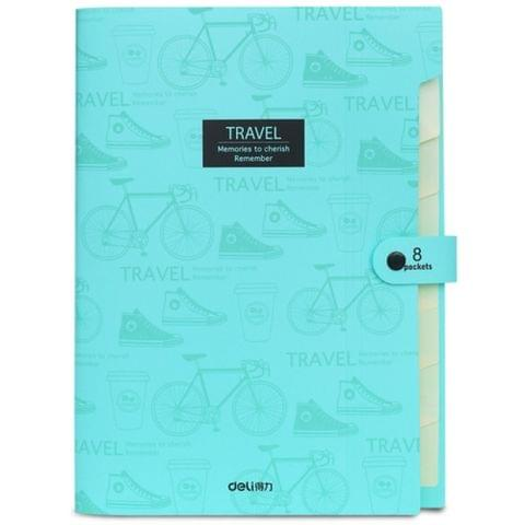 A4 Student Multi-layer Test Paper Folder Package Storage Bag(Light Cyan)