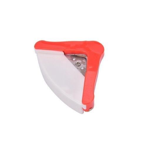 Angle Trimmer Rounder Round Cut Punch Card Corner Scrapebooking Cutter Tool Paper Puncher DIY Clipper Office Stationery(Red)