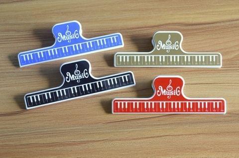 5 PCS / Pack Colorful Plastic Sheet Music Clip, Size:15.5x2x4.8cm