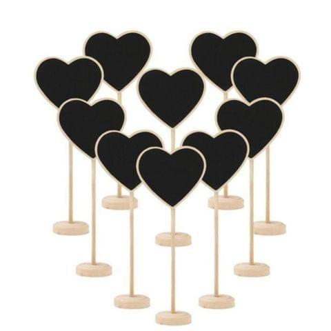 10 PCS Wooden Blackboard Chalkboard Mini Message Notice Board Table Wedding Party Decoration