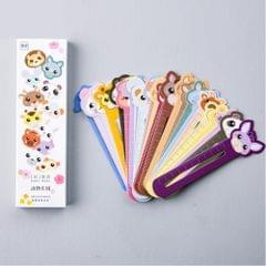 30 PCS / Set Cute Animal Farm Paper Bookmark Book Holder Multifunction Kawaii Stationery for Children School Supplies Kawaii Gifts