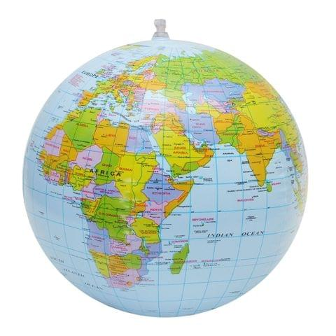 Inflatable Globe World Earth Ocean Map Ball Geography Learning Kids Educational Beach Ball , Size: 30cm