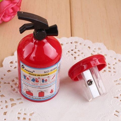 2 PCS Pencil Sharpener Kawaii Fire Extinguisher Shape Student Stationery