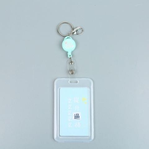 Cute Cartoon Retractable Badge Card Holder Nurse Doctor Exhibition Pull Key ID Name Card Badge Holder(Ascension Pretend Bility)