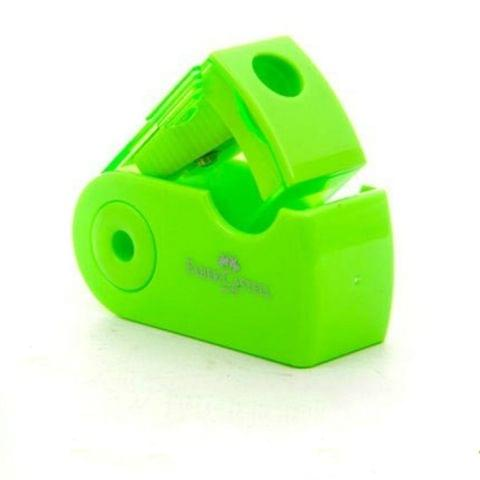 2 PCS Manual Push Pull Pencil Sharpener Single Hole Double Hole Multi-functional Office Stationery(Single green)