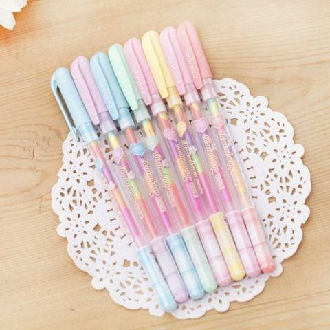 2 PCS Creative Stationery Colour Fluorescent Pen Gel Pens Office School Supplies Writing Painting Pens, Random Color Delivery