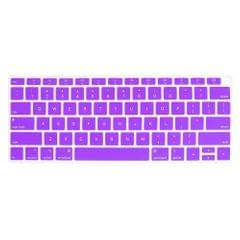 ENKAY Hat-prince US Version of The Notebook Ultra-thin  Silicone Color Keyboard Protective Cover for MacBook Air 13.3 inch A1932 (2018) (Purple)