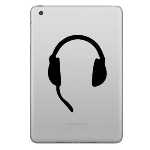 ENKAY Hat-Prince Headset Pattern Removable Decorative Skin Sticker for iPad mini / 2 / 3 / 4