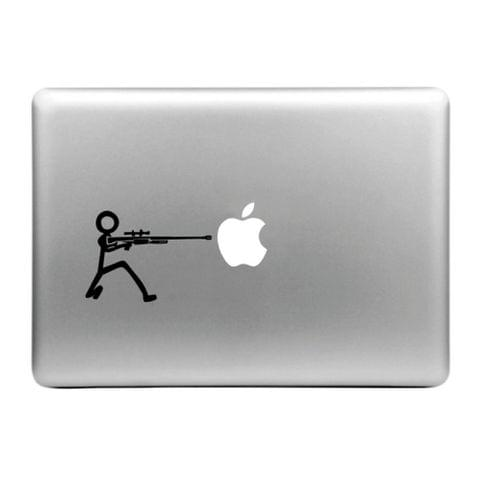 Hat-Prince Machine Gun and the Apple Pattern Removable Decorative Skin Sticker for MacBook Air / Pro / Pro with Retina Display, Size: S