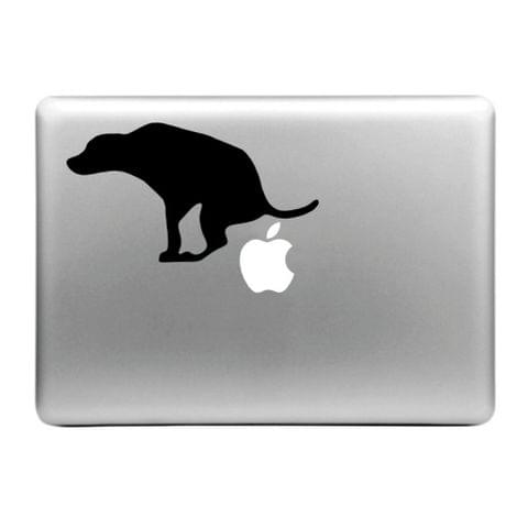 Hat-Prince Little Dog Pattern Removable Decorative Skin Sticker for MacBook Air / Pro / Pro with Retina Display, Size: S