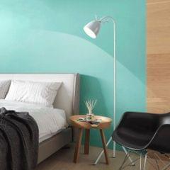 YWXLight Macaron Floor Lamp Nordic Bedroom Living Room Study Cute Pink Creative Antler Eye LED Table Lamp (White)