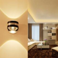 YWXLight 3W Bathroom Mirror LED Wall Light Lamp Nightlight Wall Mounted, AC 110-240V (Warm White)