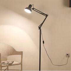 Living Room Hotel Lighting Night Adjustable Floor Lamps Study Reading Bedside Light, AC 110-240V(Black)