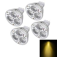 4 PCS YouOKLight MR16 3W 300LM Spotlight Bulb