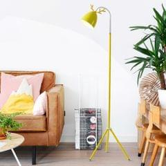 YWXLight Macaron Floor Lamp Nordic Bedroom Living Room Study Cute Pink Creative Antler Eye LED Table Lamp (Yellow)