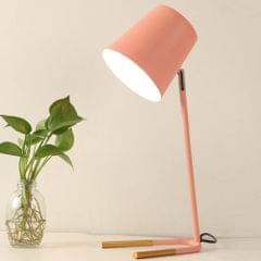 YWXLight LED Eye-caring Table Lamp Modern Creative Minimalist Bedroom Bedside Lamp Student Study Table Lamp (Pink)