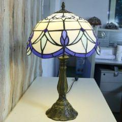 Creative Petal Bedside Bedroom Study Living Room Lighting Eye-protection Table Lamp(Beige Blue)