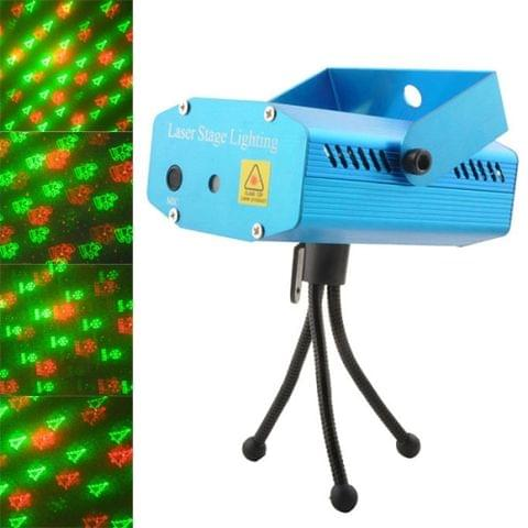 2-color LED Multifunction Disco DJ Club Holographic Laser Star Projector