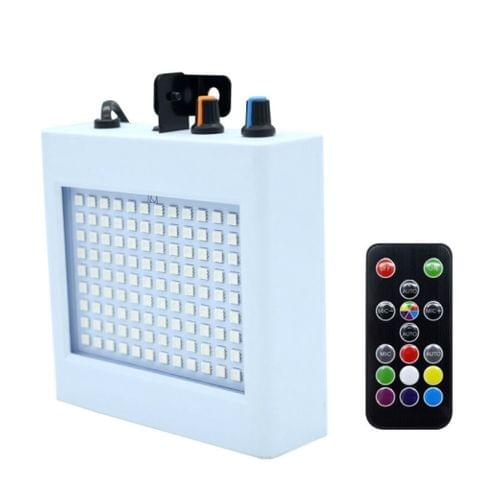 35W 108 LEDs Sound Activated Strobe Indoor Holiday Christmas Decoration Lights Bar Flash Lamp with Remote Control