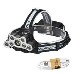 YWXLight 9LEDs USB Rechargeable 6 Modes Lighting LED Waterproof Headlights