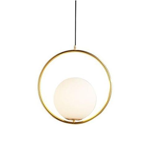 YWXLight Creative Ring Chandelier Living Room Dining Room Bedroom Glass Ball Chandelier (Warm White)