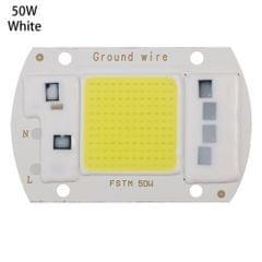 High Power 220V LED FloodlightCool/Warm White COB LED Chip IP65 Smart IC Driver Lamp(50W white)