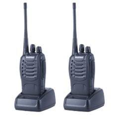 2 PCS BAOFENG BF-888S Portable CB Radio Walkie Talkie Retevis UHF 5W 16CH Radio FM Transceiver(Black)                                               ()