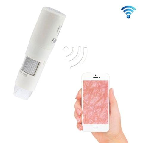 200X Handheld Wireless WIFI Digital Adjustable Microscope for IOS / Android Smart Phones(White)
