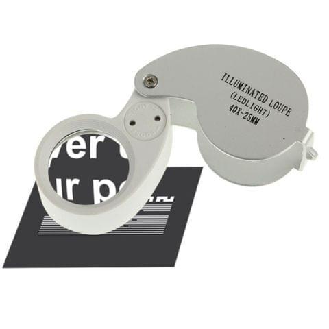 40X-25MM LED Illuminated Loupe / Jewelry Magnifier