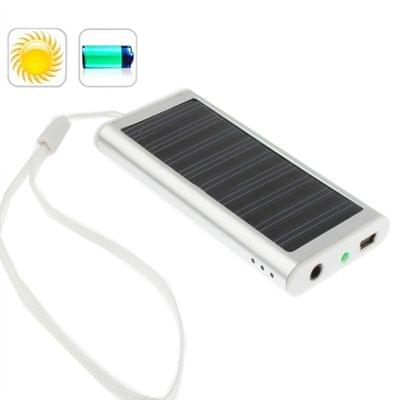 1350mAh Solar Charger for Mobile phone, Digital camera, PDA, MP3/MP4 Player(Silver)
