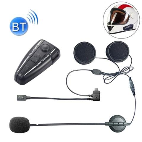 D2 Single Bluetooth Interphone Headsets for Motorcycle Helmet,  Intercom Distance up to 500m