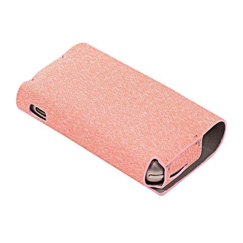 2 in 1 Cloth Texture Electronic Cigarette Protective Case for IQOS 3.0(Pink)