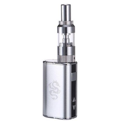 1050mAh Battery Chameleon Electronic Cigarette Starter Kit Voltage Adjustable Vape Pen Box Mod Vaporizer with LED Display (Silver)
