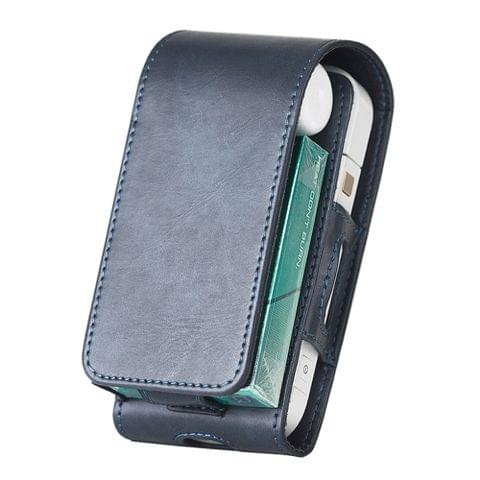 DUX DUCIS Flip PU Leather Protective Case for IQOS Electronic Cigarette(Blue)