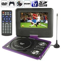 NS-789 7.0 inch TFT LCD Screen Digital Multimedia Portable EVD / DVD with Card Reader & USB Ports, Support Analog TV (PAL / NTSC / SECAM) & Game Function, 270 Degree Rotation, Support SD / MS / MMC Card, Purple(Purple)