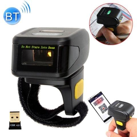 MJ-R30 Portable 1D Wearable Ring Mini Bluetooth Barcode Scanner, Compatible with Android & iOS