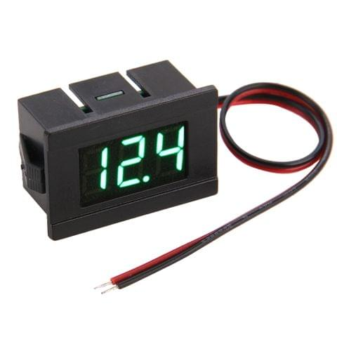 V33D 2 Wires Green Light Display Mini Digital Voltage Meter, Measure Voltage: DC 4.5-120V
