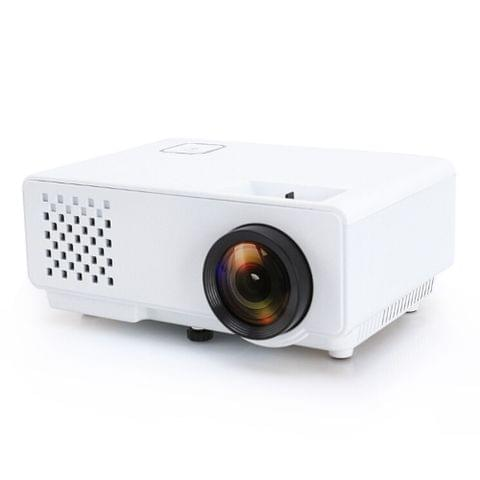 RD-810 800*768 1200 Lumens Mini LED Projector HD Home Theater with Remote Controller ,Support USB + VGA + HDMI + AV (White)